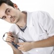 Doctor with stethoscope — Stock Photo #2526531
