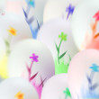Falling easter eggs — Stock Photo