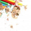 Stock Photo: Pencils and wood shavings