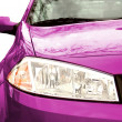 Pink Sport Car - Front side, half — Stock Photo