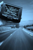 GPS Vehicle navigation — 图库照片
