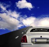 Auto auf der autobahn — Stockfoto