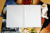 Photo Album with copy space — Stock Photo