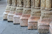 Romanesque columns feet — Stock Photo