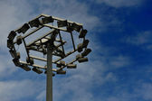 Pole with lots of lights — Stock Photo