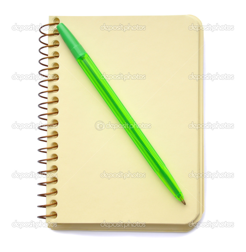 Notepad and pen on the white background. — Stock Photo #2306059