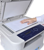 Laser copier and fax — Stock Photo