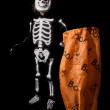 Skeleton Halloween Costume — Stock Photo