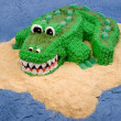 Fun Crocodile Cake — Stock Photo