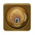 Weathered Modern Door Lock — Stock Photo #2345893