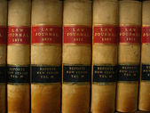 Row of Antique Law Books Circa 1800 — Stock Photo