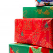 Royalty-Free Stock Photo: Stack of Colorful Wrapped Christmas Gift