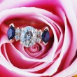 Engagement Ring in Rose - Stock Photo