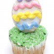 Easter Cupcake on White — Stock Photo #2353985
