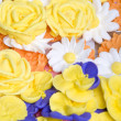 Icing Flowers Background — Stock Photo