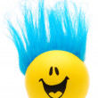 Stock Photo: Happy Face with Blue Hair