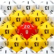 Red Twenty Sided Dice — Stock Photo