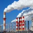 Stock Photo: Billowing Smokestacks