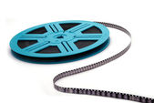 Blue Film Reel S-Curve — Stock Photo