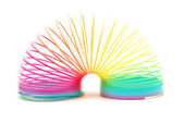 Resorte arco iris aislado en blanco — Foto de Stock