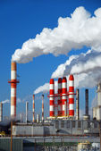 Billowing Smokestacks — Stock Photo