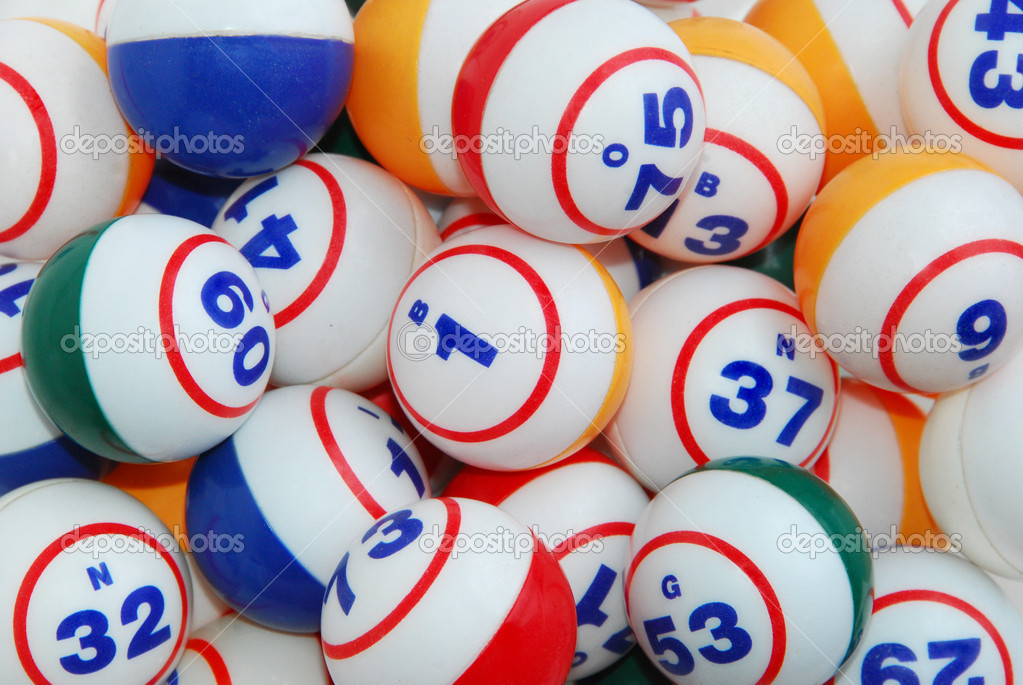 A filled background of many bingo balls from all colors. — Stock Photo #2357114