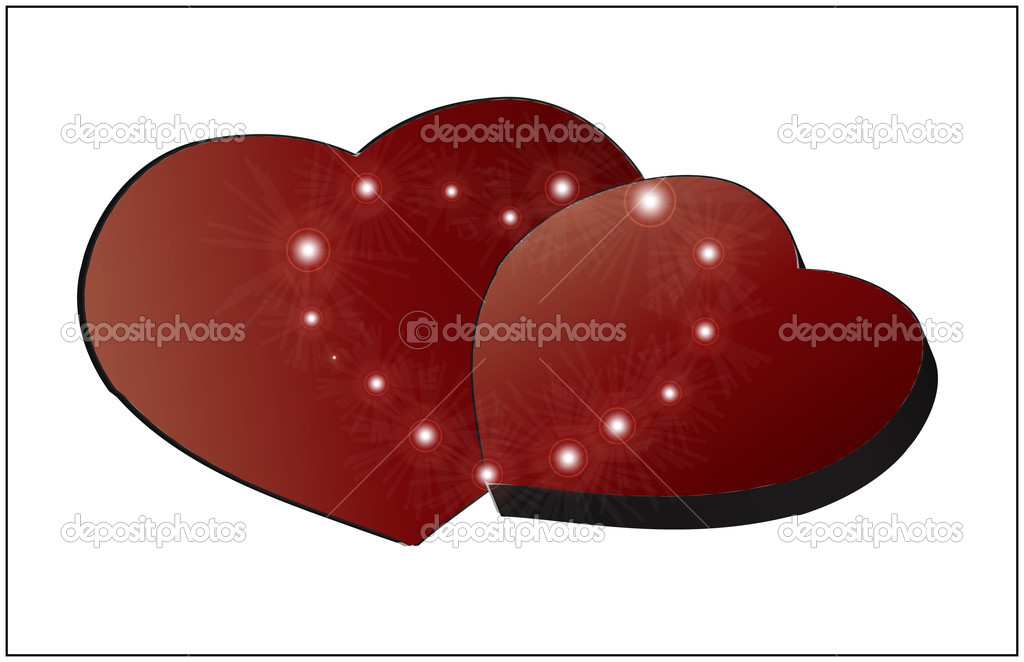 Red hearts for Valentine's Day — Stock Vector #2118297