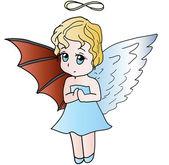 Half-Angel — Stock Vector