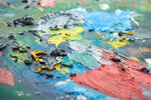 Colors on palette — Stock Photo