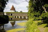 Kuressare castle bridge — Stock Photo