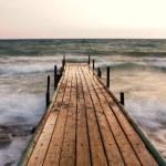 Pier at sunset — Stock Photo