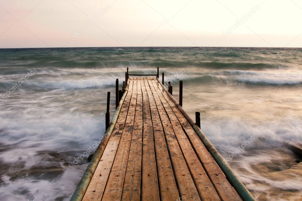 Wooden pier at sunset — Stock Photo #1982175