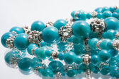 Turquoise beads — Stock Photo