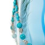 Turquoise beads — Stock Photo