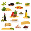 Italian Food Collection - Stock Photo