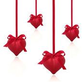 Red Valentine Hearts — Stock Photo