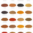 Royalty-Free Stock Photo: Spice Collection with Titles