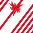 Red Satin Ribbons and Bow — Stock Photo