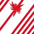 Red Satin Ribbons and Bow — Stock Photo #1991873