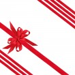 Red Satin Ribbon and Bows - Stock Photo