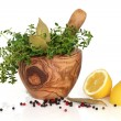 Herbs, Spices and Lemons — Stock Photo #2024880