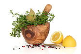 Herbs, Spices and Lemons — Stock Photo