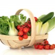 Salad Vegetables in a Basket — Stock Photo #2054169