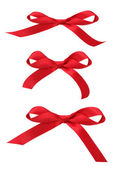 Red Ribbon Bows — Stock Photo