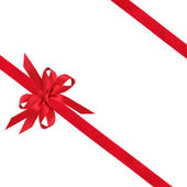 Red Ribbon and Bow — Stock Photo
