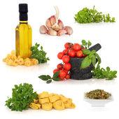 Italské potravinářské ingredience — Stock fotografie