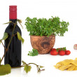 Royalty-Free Stock Photo: Italian Food and Wine