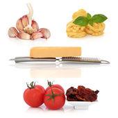 Italiensk pasta ingredienser sampler — Stockfoto