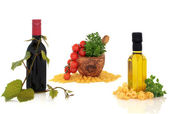 Italian Food and Drink Collection — Stock Photo
