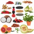 Super Food Selection — Stock Photo